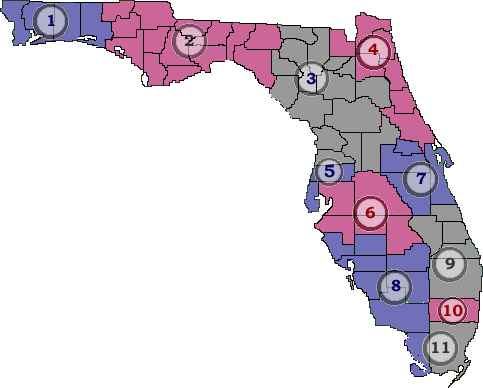 Ahca Health Quality Assurance Field Offices - Florida-us-representative-district-map